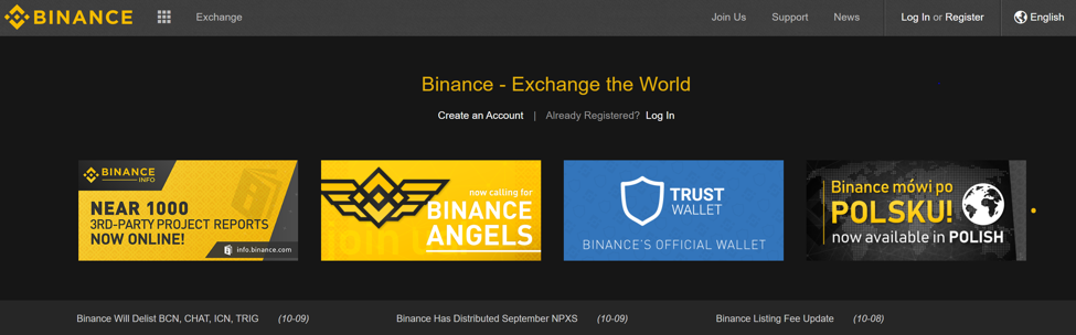 binance-cryptocurrency-exchange