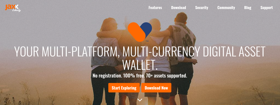 Jaxx Cryptocurrency Wallet