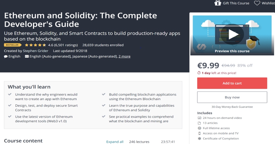 Ethereum and Solidity: The Complete Developer's Guide